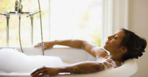 bain chaude enceinte