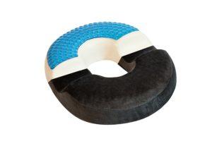 Coussin orthopédique médical rond forme anneau avec gel innovant